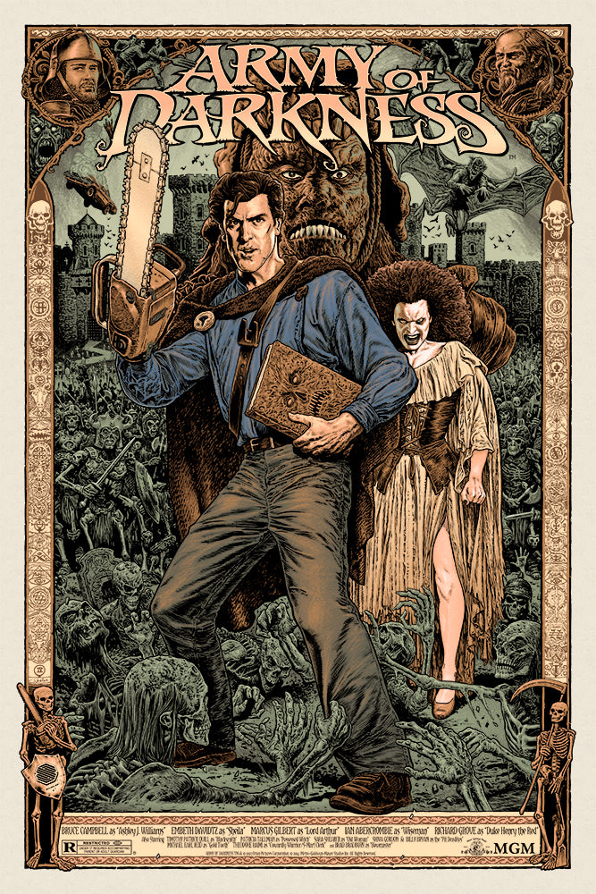 Army of Darkness by Chris Weston - Skuzzles - Limited Edition Screen Print