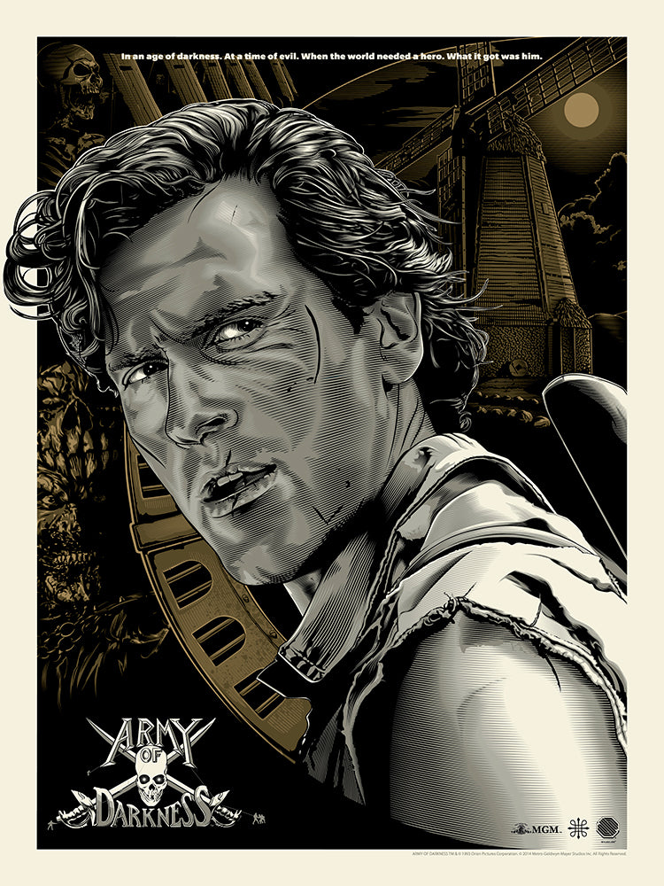 Army of Darkness by Jeff Boyes - Skuzzles - Limited Edition Screen Print