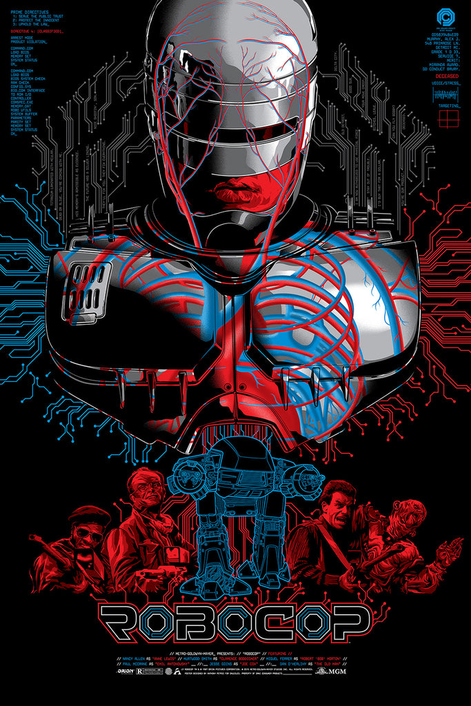RoboCop limited edition screen print movie poster by anthony petrie - Skuzzles