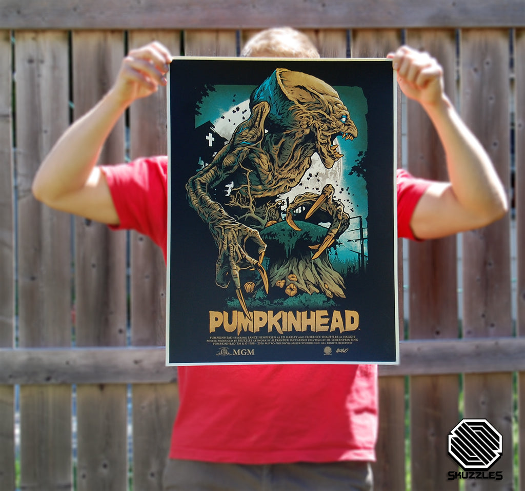 Skuzzles Pumpkinhead metallic variant limited edition movie poster by Alexander Iccarino