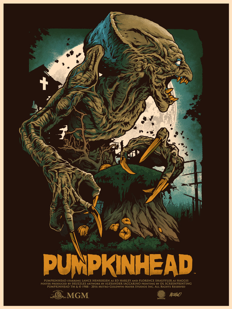 Skuzzles Pumpkinhead limited edition movie poster by Alexander Iccarino