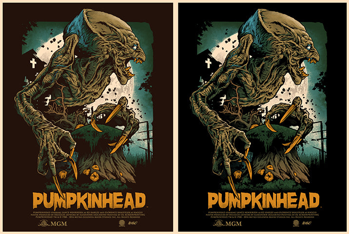 Skuzzles Pumpkinhead limited edition screen print movie poster by ALEXANDER IACCARINO