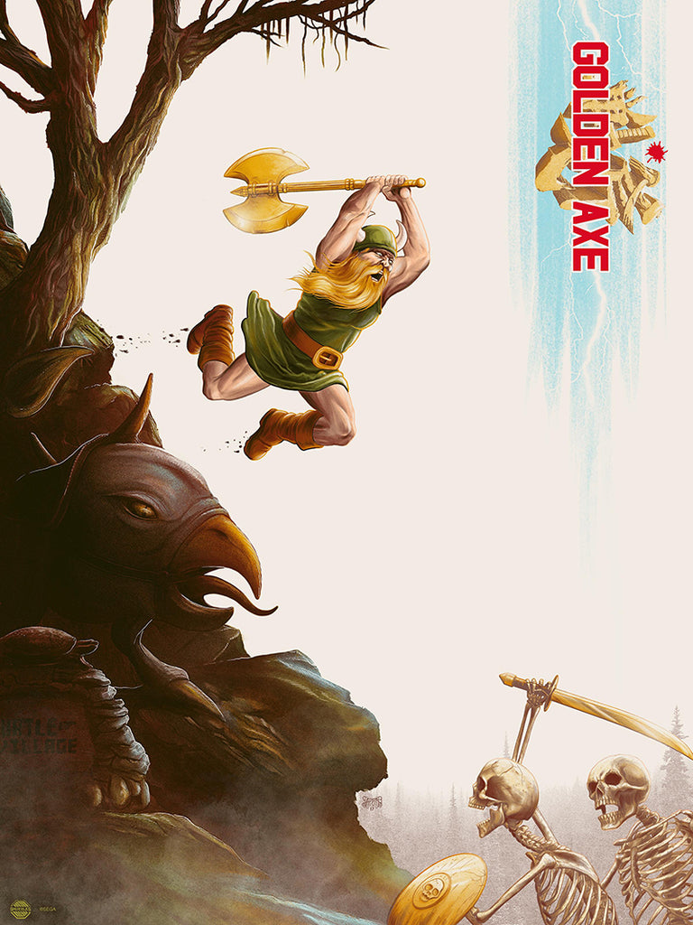 Golden Axe (SEGA) by Mike Saputo - Limited edition screen print video game poster - Regular Edition