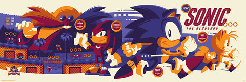 Sonic The Hedgehog - by Tom Whalen - SEGA - Skuzzles - Regular Edition