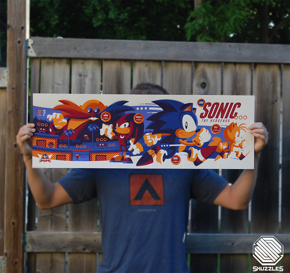 Sonic The Hedgehog - Skuzzles by Tom Whalen - Variant Edition Photo
