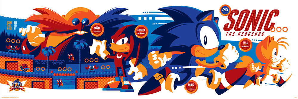 Classic Sonic The Hedgehog By Tom Whalen - Our First Limited Edition S –  Skuzzles