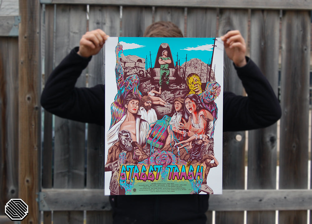 Skuzzles regular limited edition screen print movie for Street Trash by Chris Skinner - Product Image