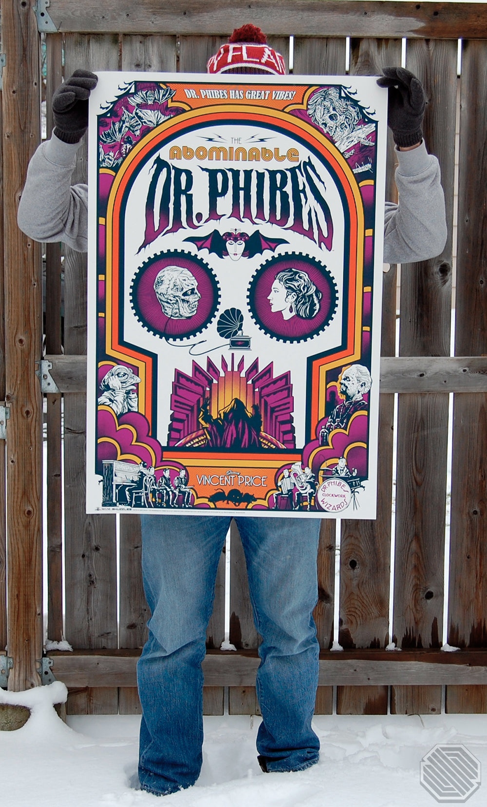 the Abominable Dr. Phibes - Skuzzles - Ghoulish Gary Pulin - Vincent Price - Limited Edition Screen Print