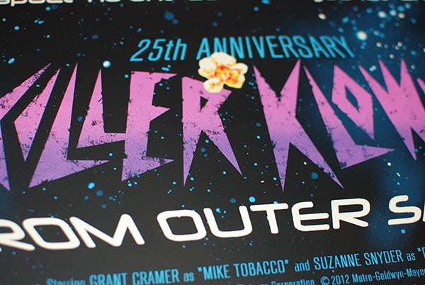 Killer Klowns from Outer Space 25th Anniversary -  closeup of logo regular