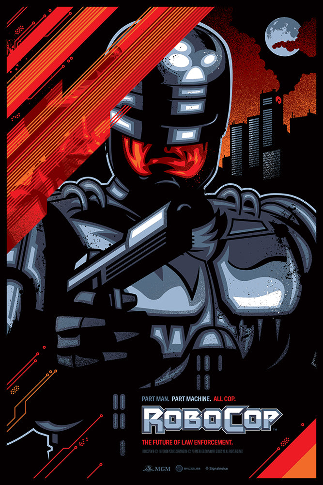 Skuzzles movie poster Robocop by James White of Signal Noise Regular Product
