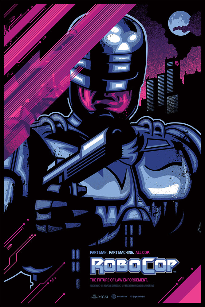 Skuzzles movie poster Robocop by James White of Signalnoise Variant Edition