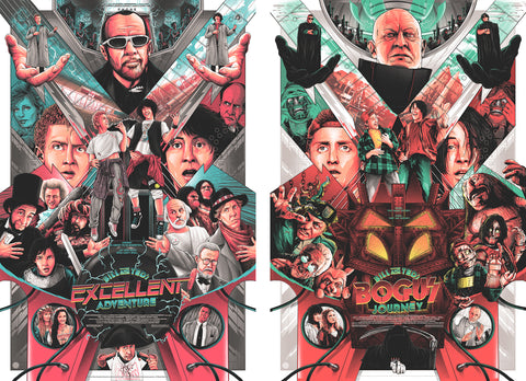 Bill & Ted's Excellent Adventure and Bogus Journey - Reg Movie Poster Set
