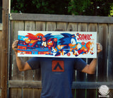 Sonic The Hedgehog Video Game Poster - Metallic Variant Edition