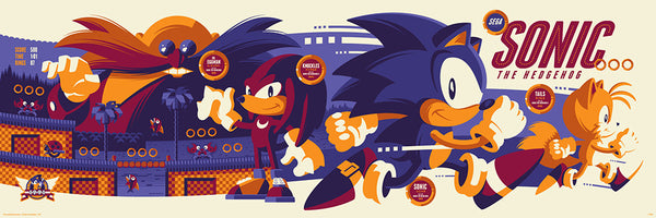 Sonic The Hedgehog Video Game Poster Regular Edition Skuzzles