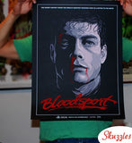Limited edition screen print movie poster - randy ortiz - Bloodsport