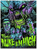 Limited edition screen print movie poster  - Class Of Nuke Em High - Regular