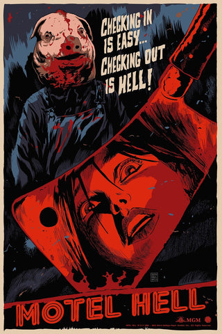 Limited edition screen print movie poster - francesco francavilla  - Motel Hell - Regular