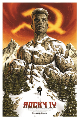 Limited edition screen print movie poster - Jason Edmiston  - Rocky IV - Regular