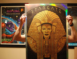 Limited edition screen print movie poster - todd slater - Stargate (1994) -  Holographic Variant