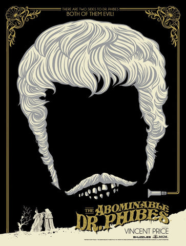 Limited edition screen print movie poster - ghoulish gary - The Abominable Dr. Phibes (1971) - Night Vengeance