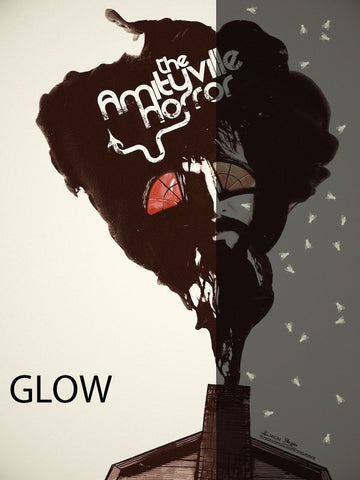 Limited edition screen print movie poster - jay shaw - The Amityville Horror - Glow In The Dark Variant