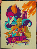 Limited edition screen print movie poster - tom whalen- The Toxic Crusaders - Regular