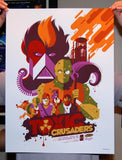 Limited edition screen print movie poster - tom whalen - The Toxic Crusaders - Variant
