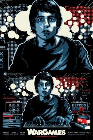 Limited edition screen print movie poster - James White signalnoise - War Games (1983) - Regular