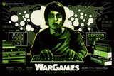 Limited edition screen print movie poster - James White signalnoise - War Games (1983) - Variant