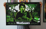 Limited edition screen print movie poster - James White signalnoise- War Games (1983) - Variant