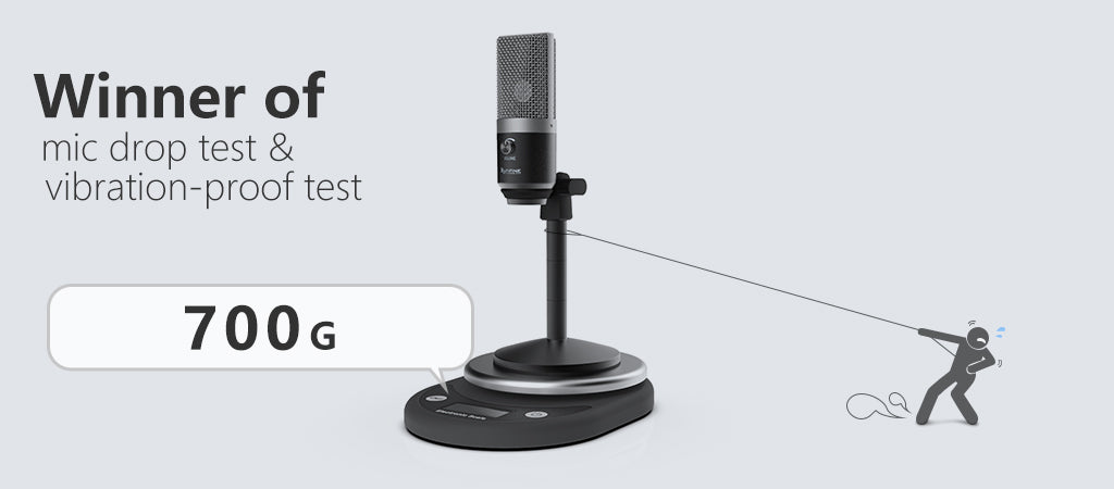 fifine usb microphone with zero latency monitoring jack for streaming fifine microphone. Black Bedroom Furniture Sets. Home Design Ideas