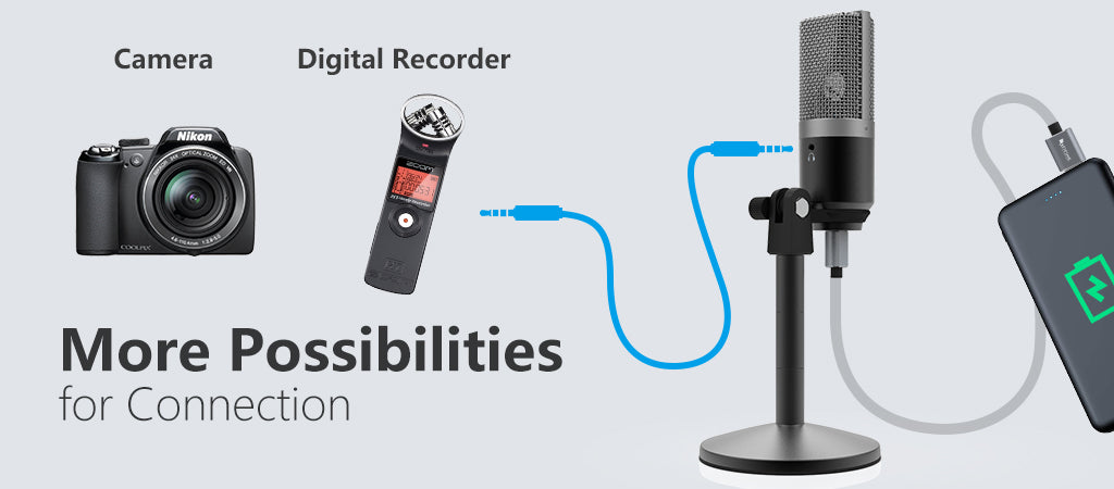 FIFINE USB Microphone with ZERO-Latency Monitoring Jack for Streaming  Podcasting on Mac/Windows-K670