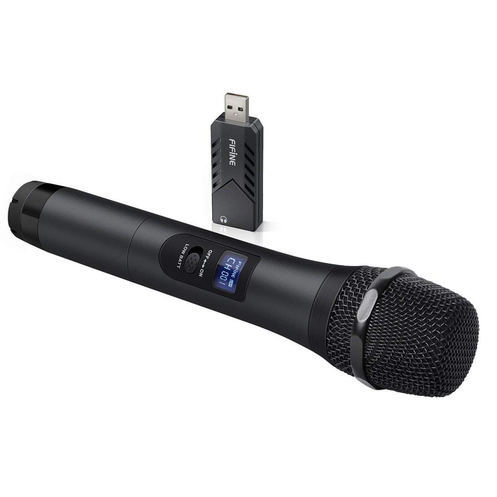 FIFINE K026 Wireless Handheld Microphone, Plug & Play on Computer for Online Speech