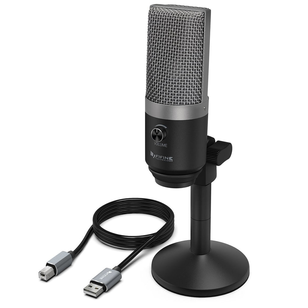 FIFINE K670/670B USB Mic with A Live Monitoring Jack for Streaming Podcasting on Mac/Windows