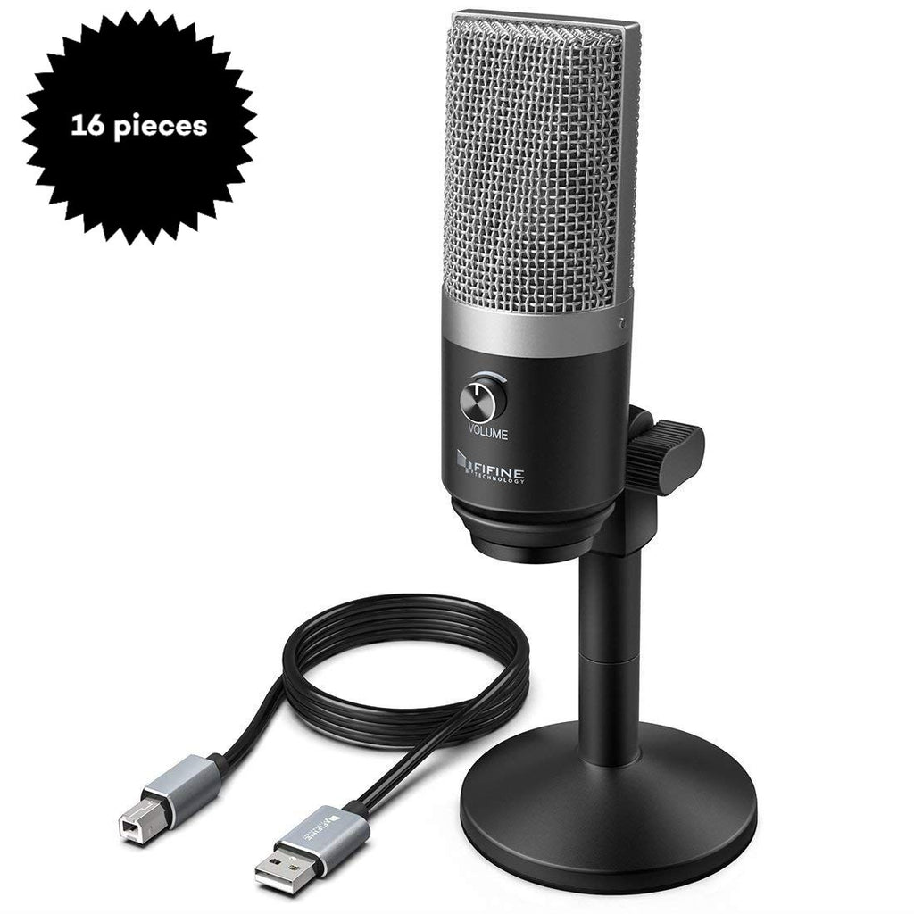 Bulk Purchase of FIFINE K670/670B USB Microphone with Low-latency Monitoring Jack (16 Pieces)