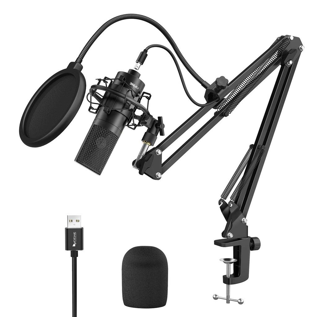 FIFINE K780A Studio USB Microphone Kit with Arm Stand, Shock Mount, Pop filter for Podcasting, Vocal