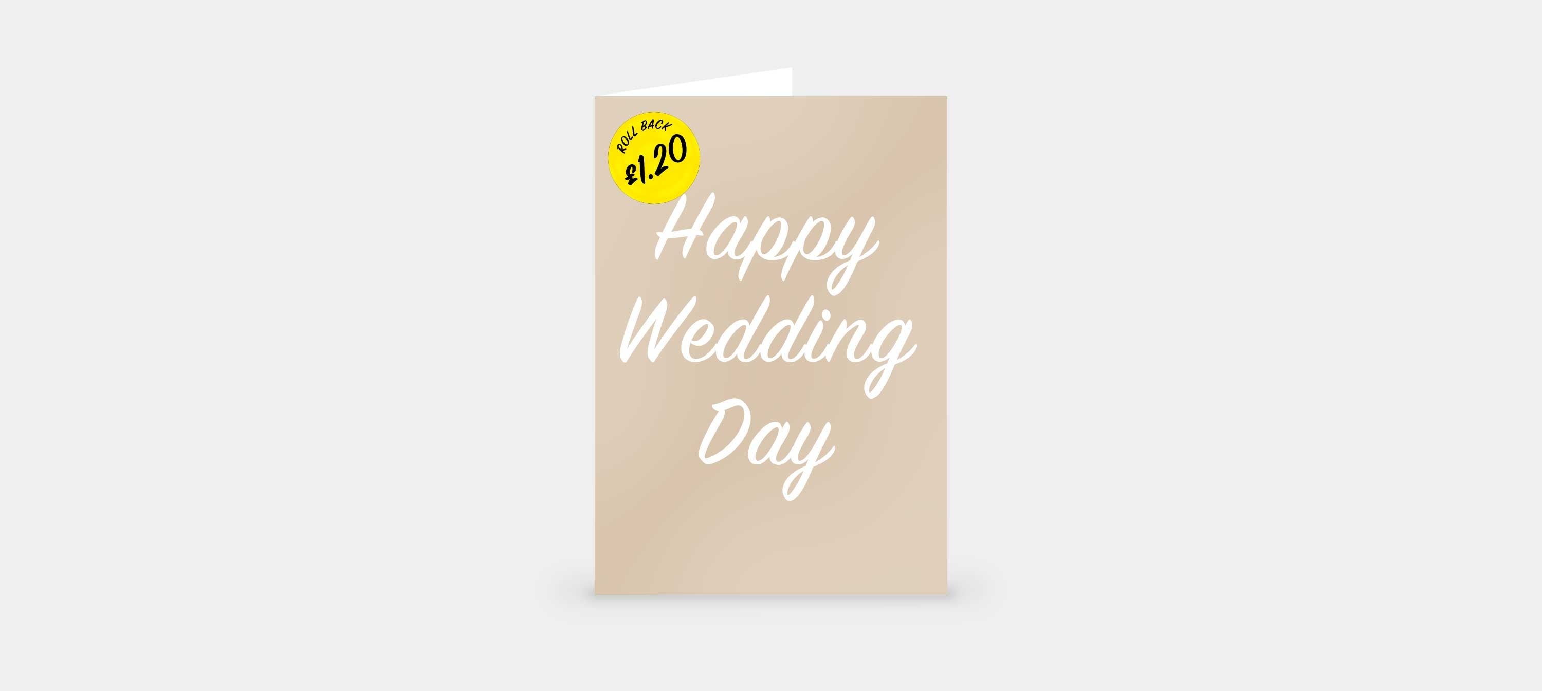 Wedding Card For £1.20