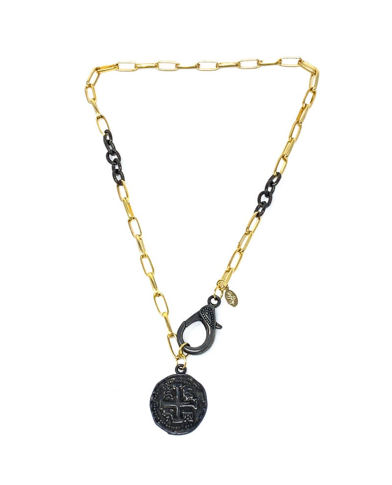 Lila Coin Chain gold 18