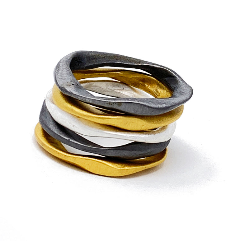 5 layers rings 3 colors