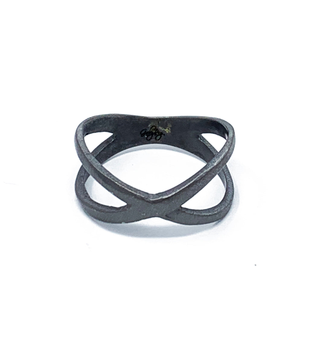 X form ring black