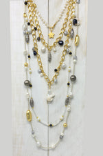 Layered Suri chain necklace