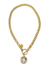 "Gold Taylor chain necklace for women 15.5"" long"