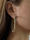 Twisted hoop earrings 3 colors - Mia Earrings