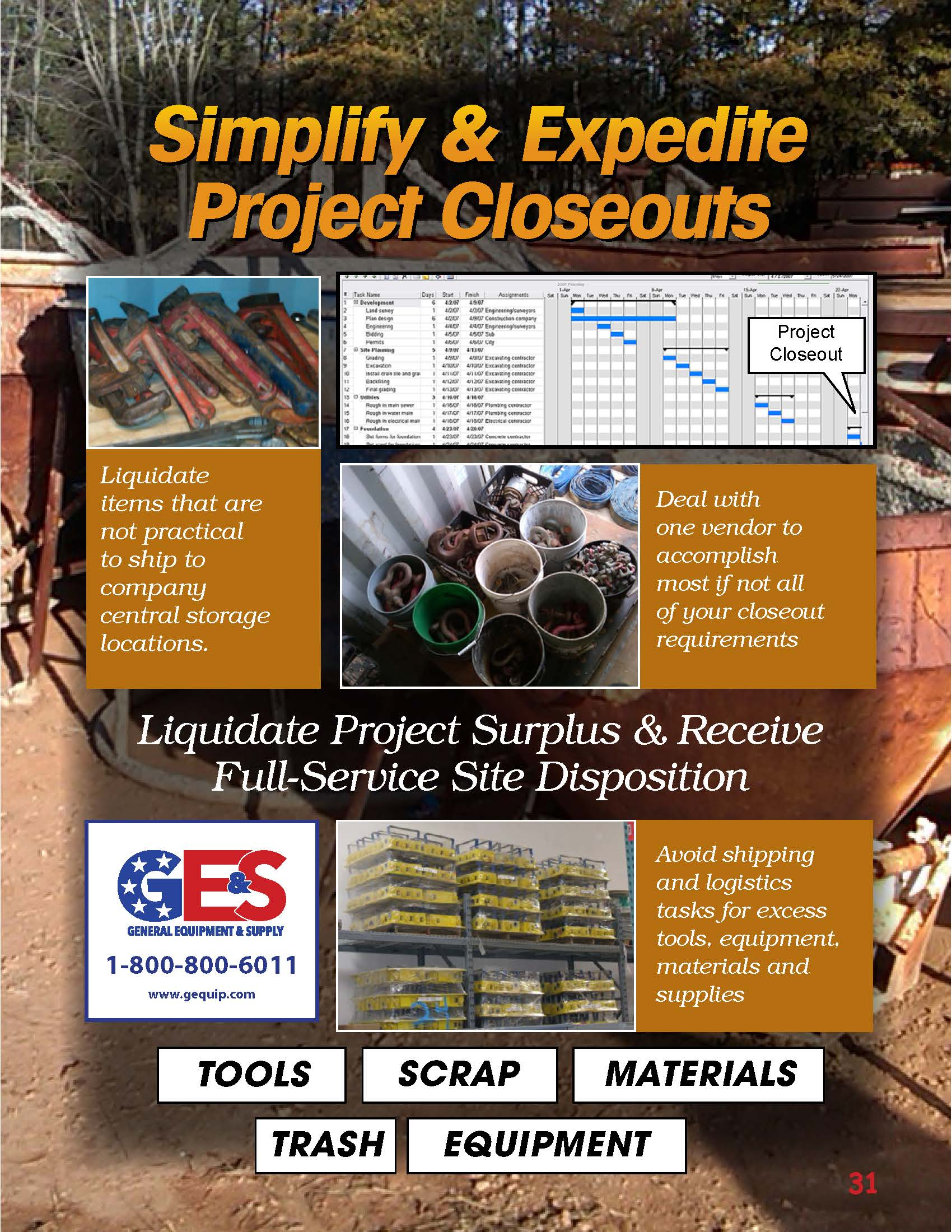 Simplify & Expedite Project Closeouts