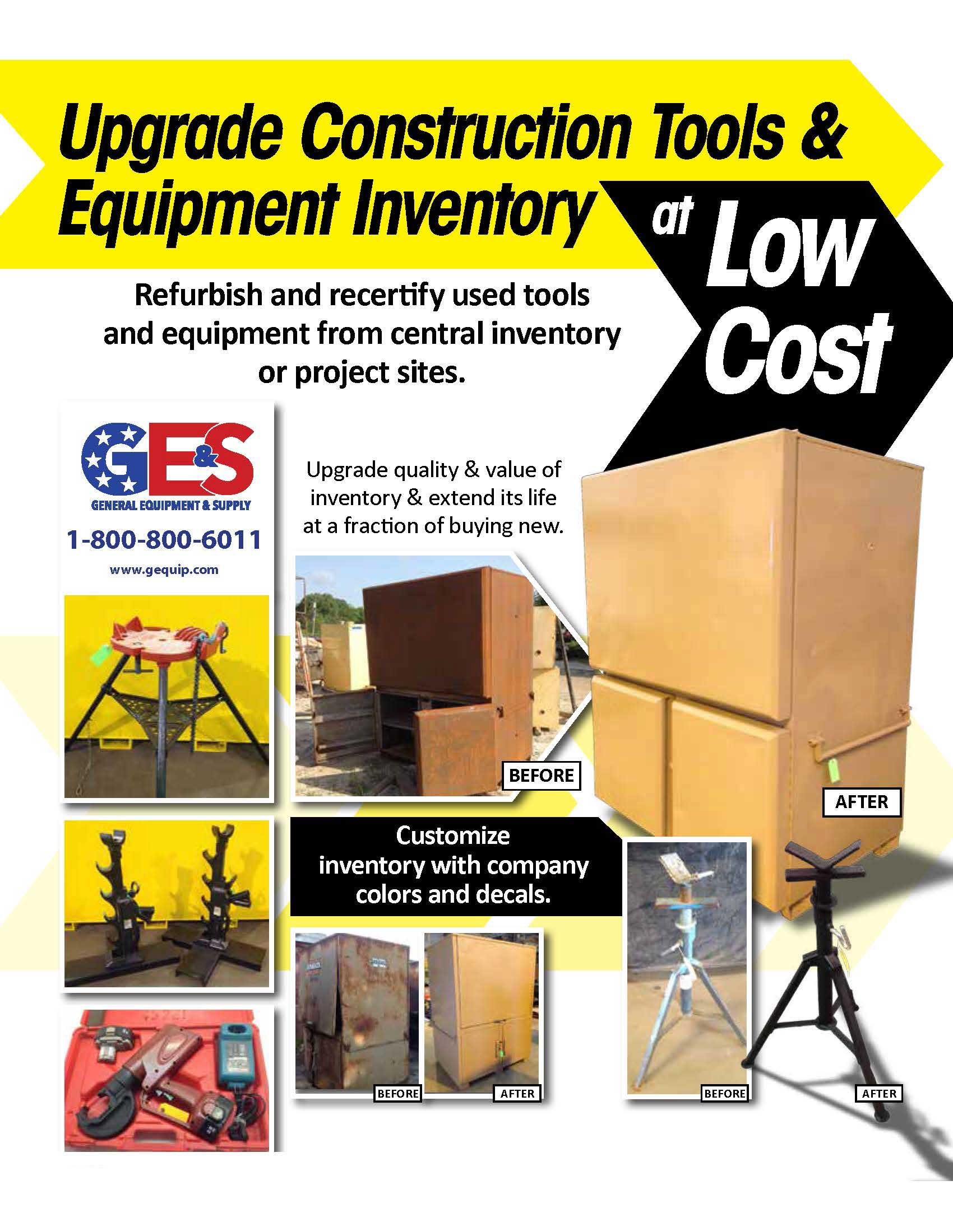 Upgrade your construction tools & equipment
