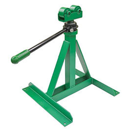 "Greenlee 656 Ratchet-Type Reel Stand 28"" to 46-5/8"" Heavy Duty Reconditioned"