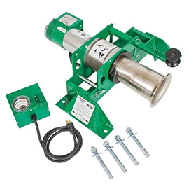 Greenlee 6800 Ultra Tugger Portable Cable Puller with Floor Mount & Force Gauge Reconditioned