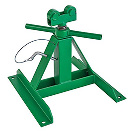 "Greenlee 687 Adjustable Screw-Type Reel Jack Stand 13""-28"" Reconditioned"