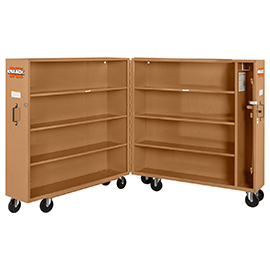 "Knaack 100 60"" x 30"" x 65"" Rolling Bi-fold Clam Shell Storage Cabinet with Casters Reconditioned"
