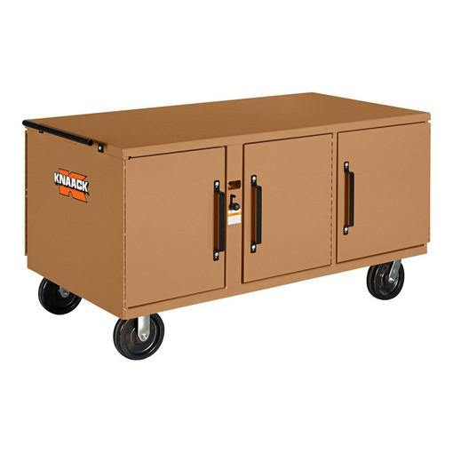 "Knaack 62 War Wagon 62"" X 32"" X 26"" Rolling Work Bench Job Box Reconditioned"